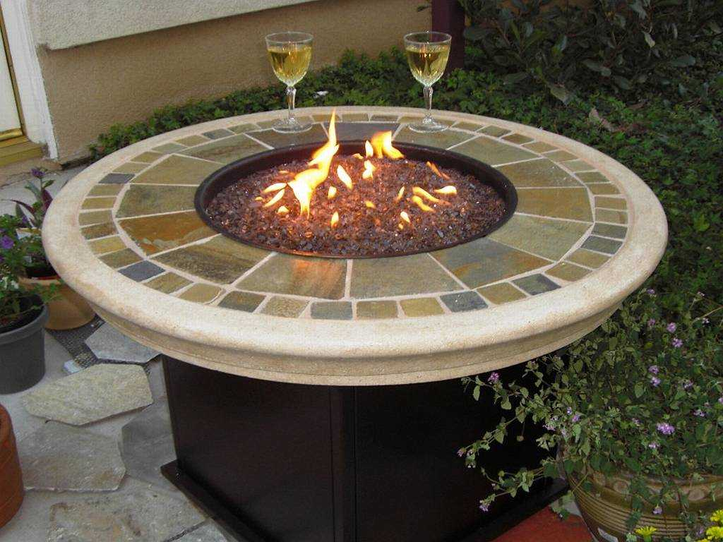 Rustic Patio Table with Fire-PitEasy Home Improvement Tips